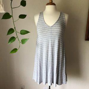 Gray Striped Tunic
